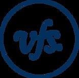 Navy Blue circle with VFS written inside (i.e. the VFS logo)