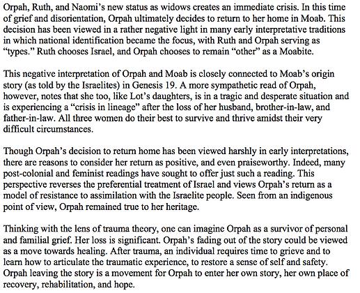 Orpah Leaves the Story                                     (Jennifer M. Matheny)