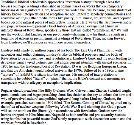 American Premillennialist Interpretations of Revelation (Jonathan Redding)
