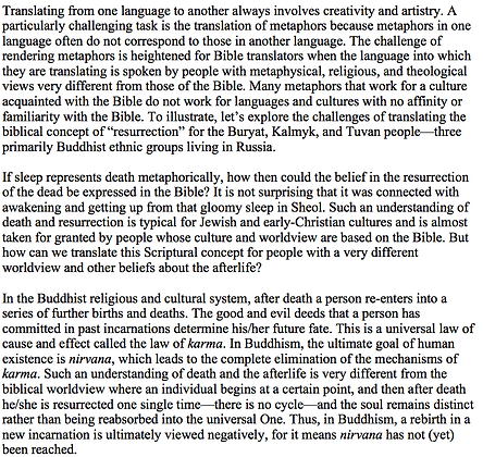Translating Resurrection in a Buddhist Context (Alexey Somov)