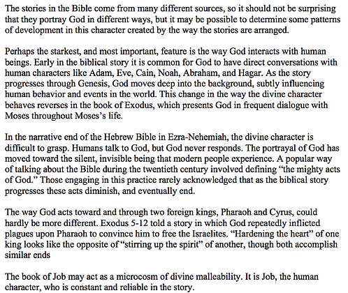 God's Personality in the Hebrew Bible (Mark McEntire)