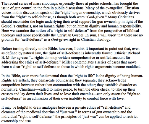 Natural Law, the Bible, and Self-Defense (Mark E. Biddle)