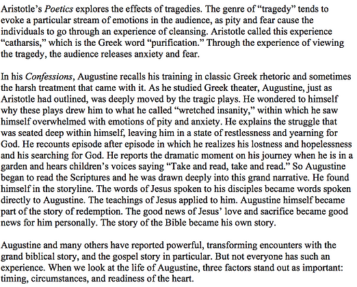 Aristotle, Augustine, and the Story of Redemption (Donald H. Kim)
