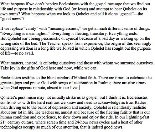 The Gospel of Ecclesiastes (John E. Anderson)