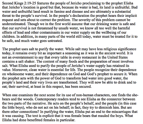 Reading the Environment in 2 Kings 2:19-25 (Alice L. Laffey)