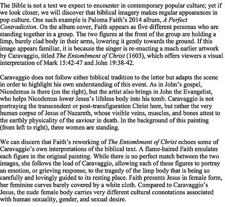 Caravaggio in Pop Culture (Caroline Blyth)