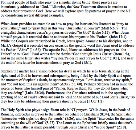Prayer in the New Testament (Jared Bryant)