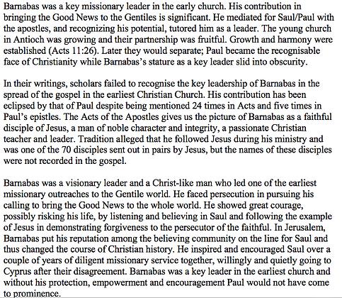 Barnabas, the Forgotten Apostle (Barbara Bergin)