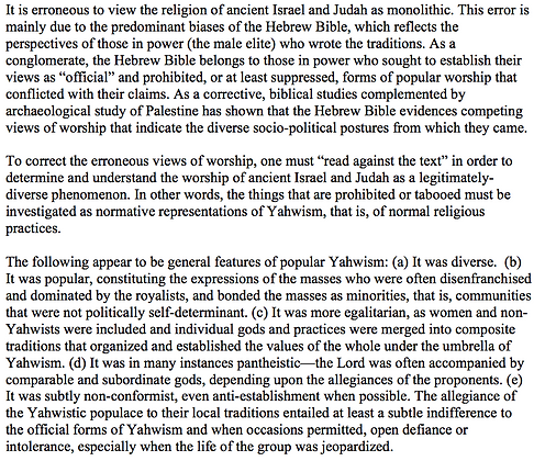 The Diversity of Religious Practices in Ancient Israel (Jerome C. Ross)