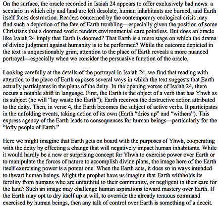 A Happy Ending for Earth in Isaiah 24 (Jacob R. Evers)