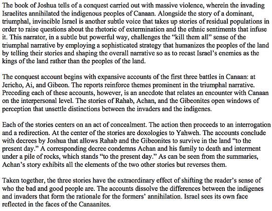 The Biblical Critique of the Conquest (L. Daniel Hawk)
