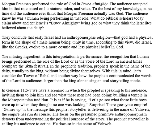 Prophetic Performance and Israelite Theology (Peter Feinman)