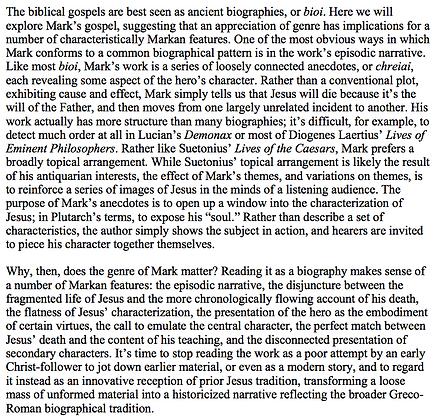 Mark as Ancient Biography (Helen K. Bond)