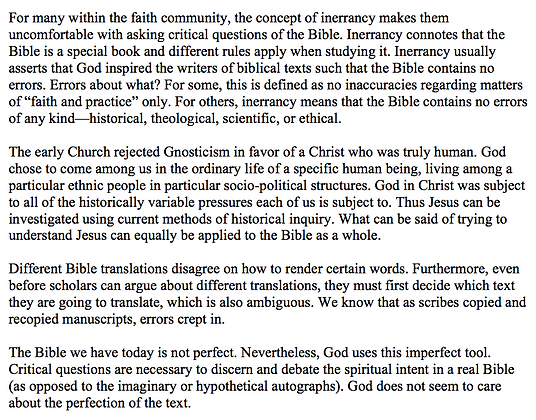 Inerrancy and Its Implications for Critical Biblical Study (Thomas W. Martin)