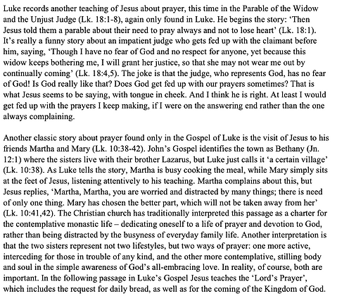 The Gospel of Luke as a Manual of Prayer  (Nicholas Alan Worssam)