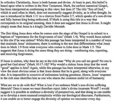 Is Jesus Divine in Mark? (Stephen Black)