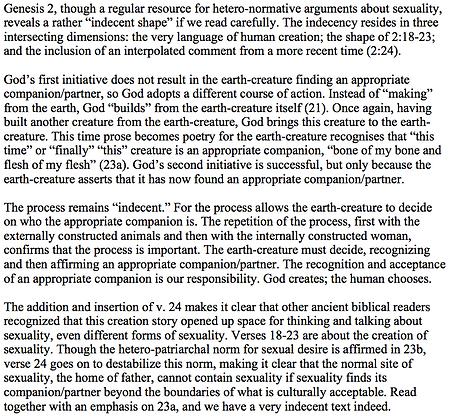 Non Hetero-Normativity in Genesis 2 (Gerald O. West)