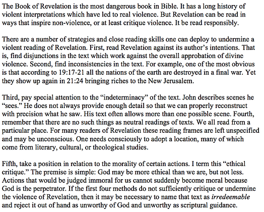 Strategies for Non-Violent Readings of the Book of Revelation (Thomas W. Martin)