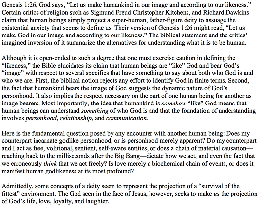 Humans Made in the Image of God, Or Vice Versa (Mark E. Biddle)