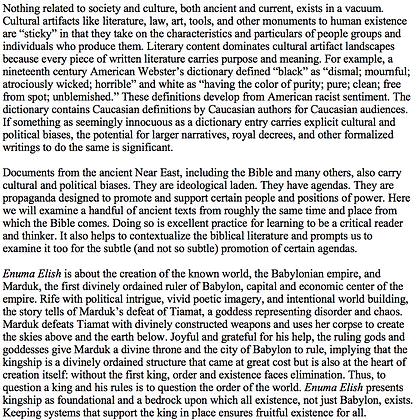 Political Propaganda in Ancient Near Eastern Literature (Jonathan Redding)