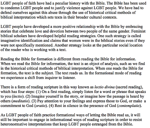 Reading Scripture as LGBT People of Faith (Mona West)