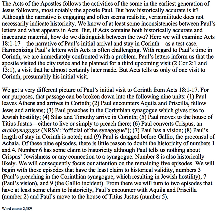 Historical Reliability in the Book of Acts (Paul B. Duff)