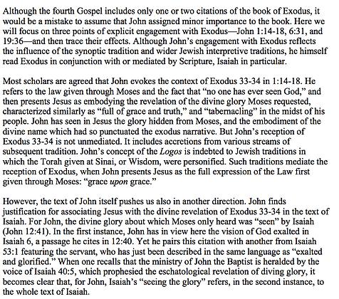 Exodus in John's Gospel (Joshua Coutts)