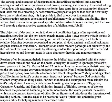 Deconstruction and the Bible (Jonathan Redding)