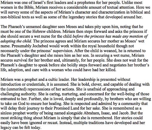 Miriam, Leader of Israel (Jill Engelhardt)