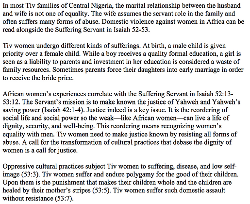 Women in Africa and the Suffering Servant (Clement Iorliam)