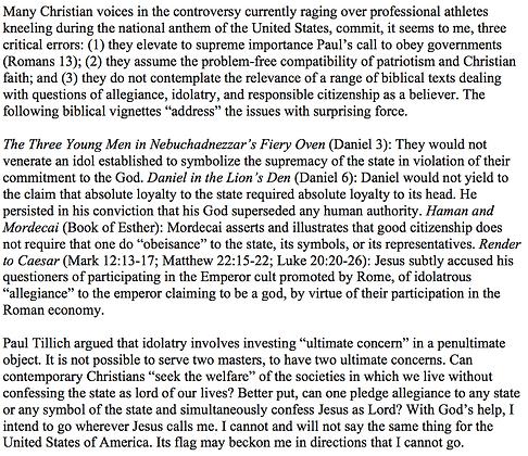 Serving the State Versus Serving God (Mark E. Biddle)