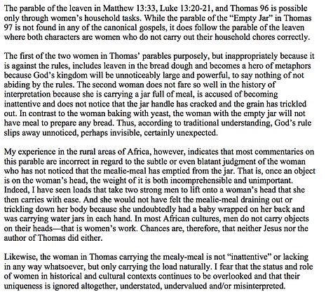 A Commentary from Africa on Women in the Parables (Glenna S. Jackson)