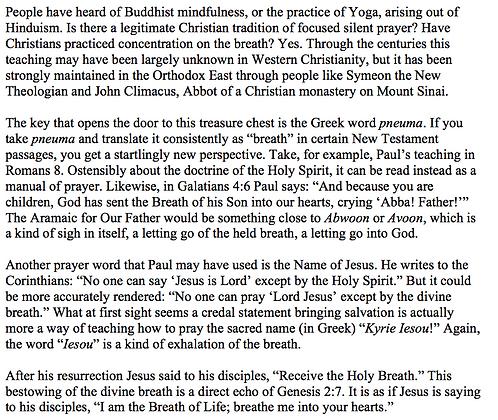 Pneuma as the Key to Christian Mindfulness (Nicholas A. Worssam)