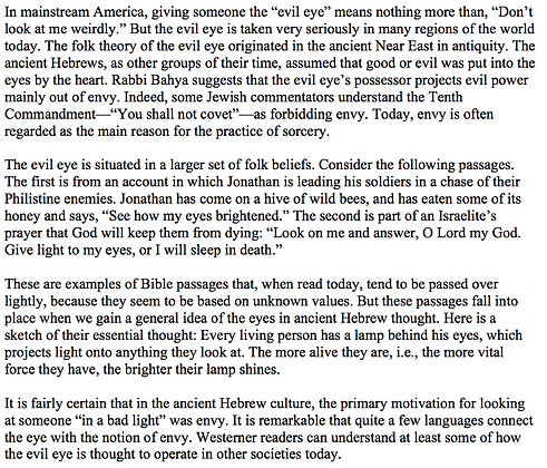 "The ""Evil Eye"" in the Ancient World, the Bible, and Today (James N. Pohlig)"