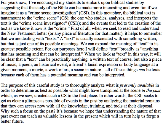 Biblical Study as a Crime Scene Investigation (Julius-Kei Kato)
