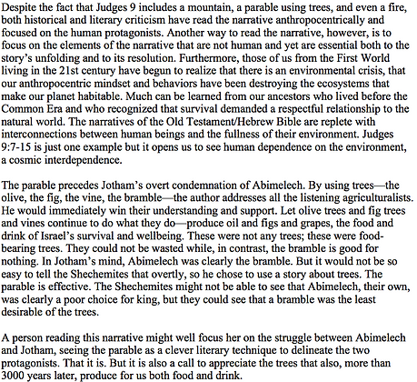 Reading the Environment in Jotham's Parable (Alice L. Laffey)