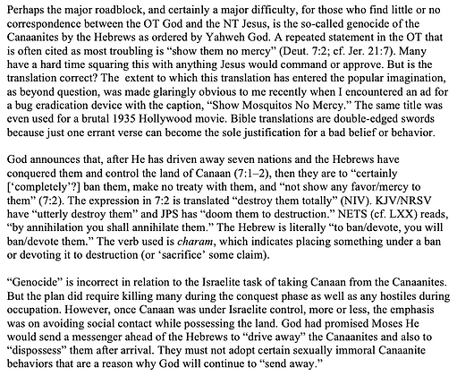 No Mercy for the Canaanites? (Creig Marlowe)