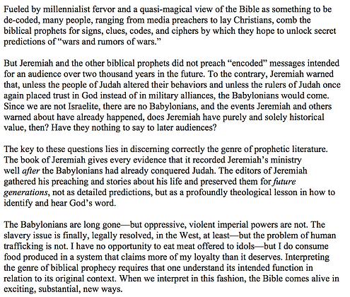 How To Interpret Bible Prophecies (Mark E. Biddle)