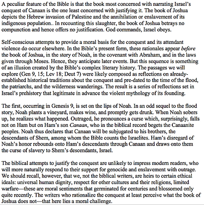 Violence and Morality in the Israelite Conquest of Canaan (Robert Bruce Foster)