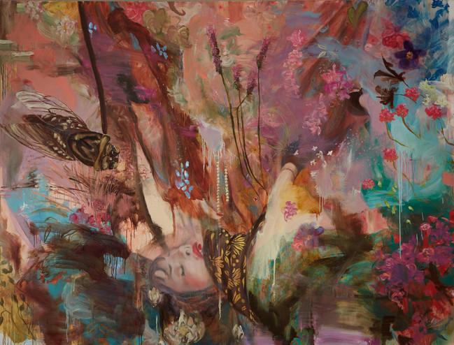 """Die Bleichen Berge, 2006, oil on canvas, 72""""x96"""", 183cm x 244cm"""