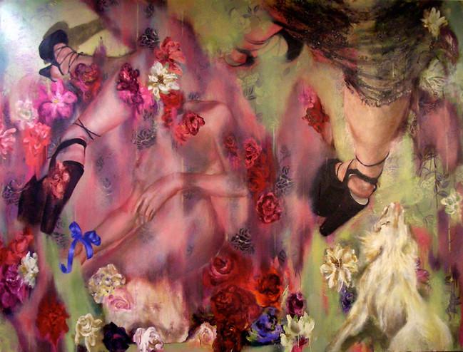 """Wallpaper, 2006, oil on linen, 72""""x 96"""", 183cm x 244cm"""