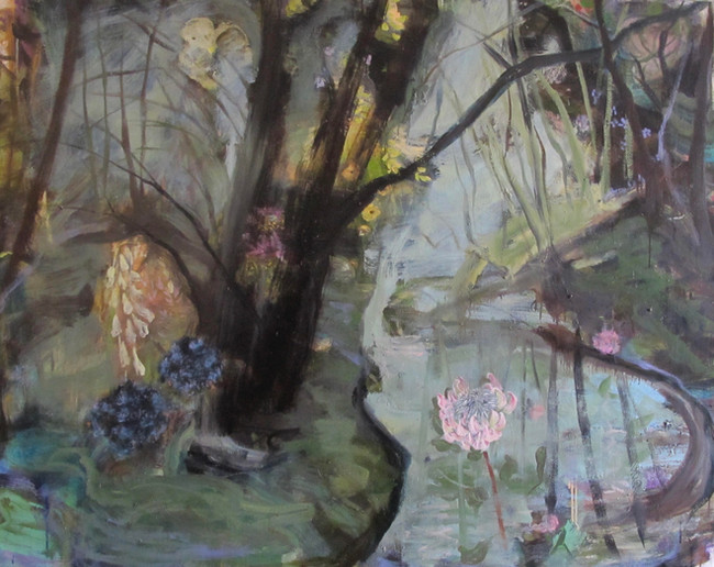 """Down by the River, 2013, oil on linen, 48""""x60"""", 122cm x 152cm"""