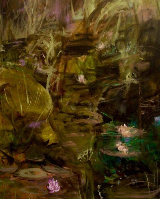 """My Secret Garden, 2010, oil on linen, 48""""x60"""", 122cm x 152cm"""