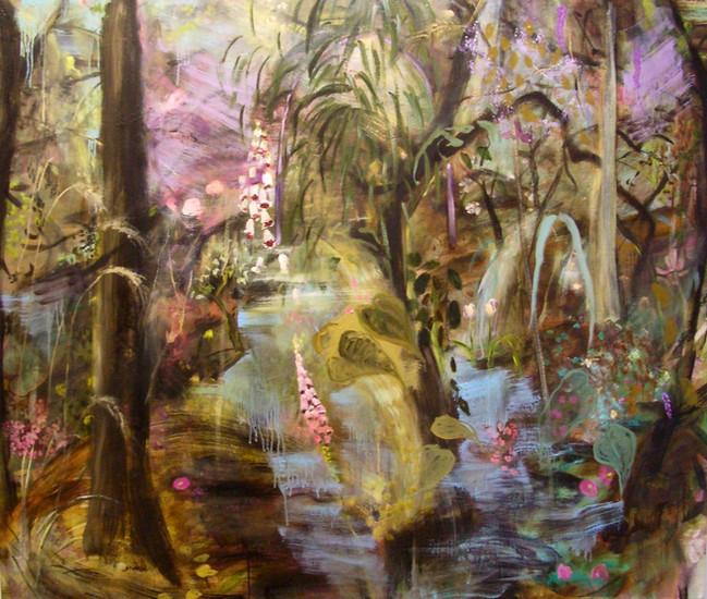 "Into the Woods, 2012, oil on linen, 60""x72"", 152cm x 183cm"