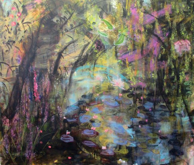 "A Shimmering Radiance, 2013, oil on linen, 60""x 72"", 152cm x 183cm"