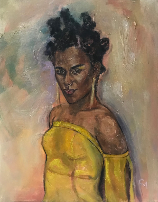 "Joela, 2021, 30""x24"", oil on canvas"