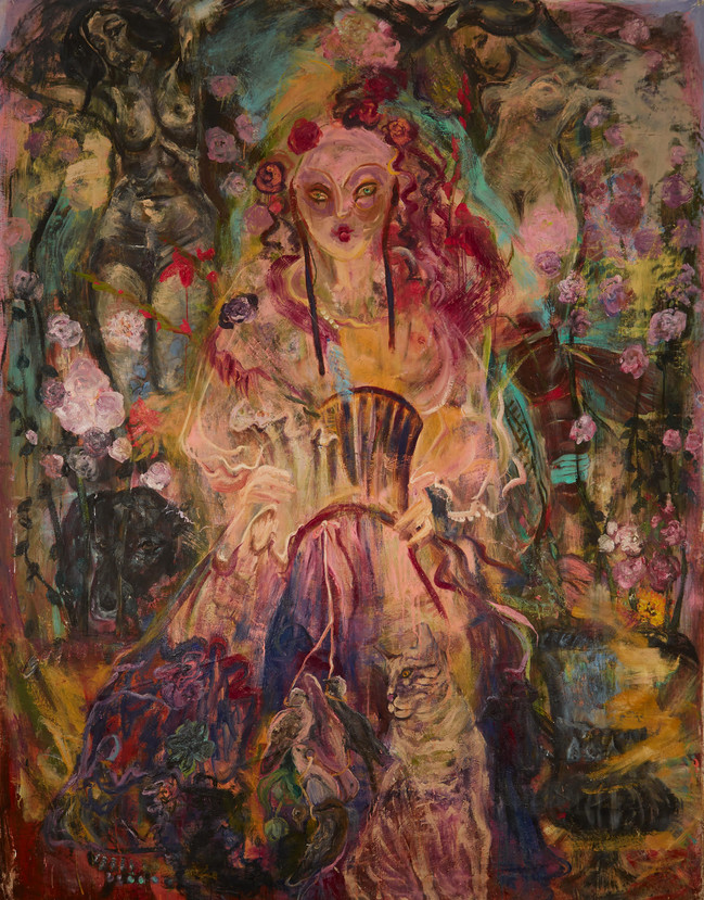 """For Sissi (The archduchess) 2019, oil on canvas, 106""""x82"""", 270cm x 210cm"""
