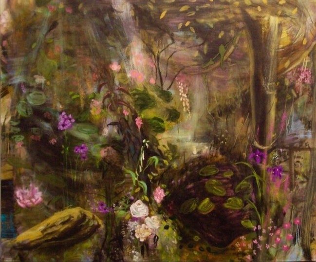 """A Clearing, 2011, oil on linen 72""""x96"""", 183cm x 244cm"""