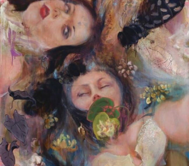"""Nymphea, 2006, oil on linen, 36""""x42"""", 91cm x 107cm"""
