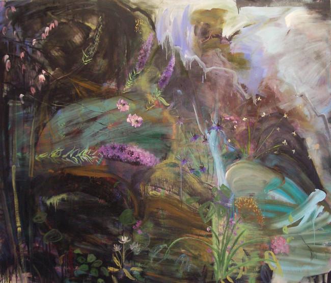"Dark Garden, 2012, oil on linen, 84""x96"", 213cm x 244cm"